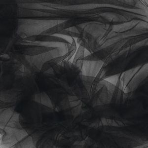 SILK AND POLYAMIDE TULLE B/W/I